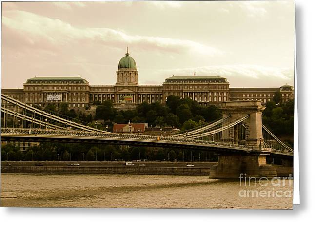 Palace Bridge Greeting Cards - A Bridge to Palace Greeting Card by Syed Aqueel