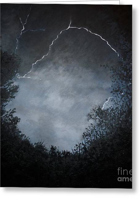 Dark Skies Paintings Greeting Cards - A Brief Moment in Time Greeting Card by Paul Horton