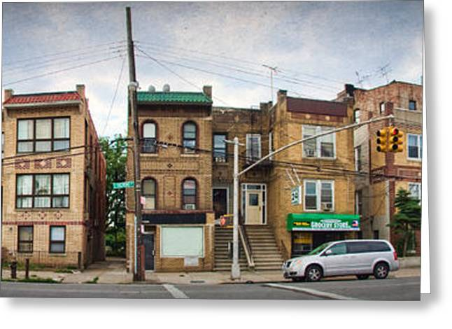 Bronx Greeting Cards - A Bronx Street Greeting Card by June Marie Sobrito