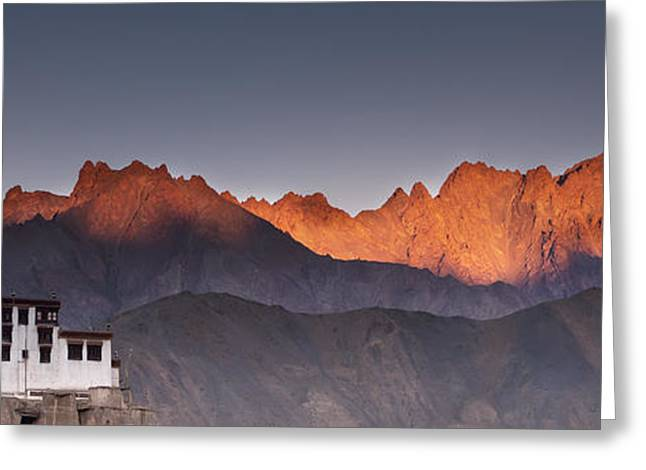 Ledge Photographs Greeting Cards - A Building On A Rock Ledge With Greeting Card by David DuChemin