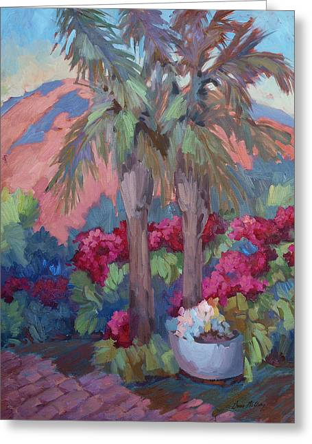 Burst Paintings Greeting Cards - A Burst of Red Greeting Card by Diane McClary