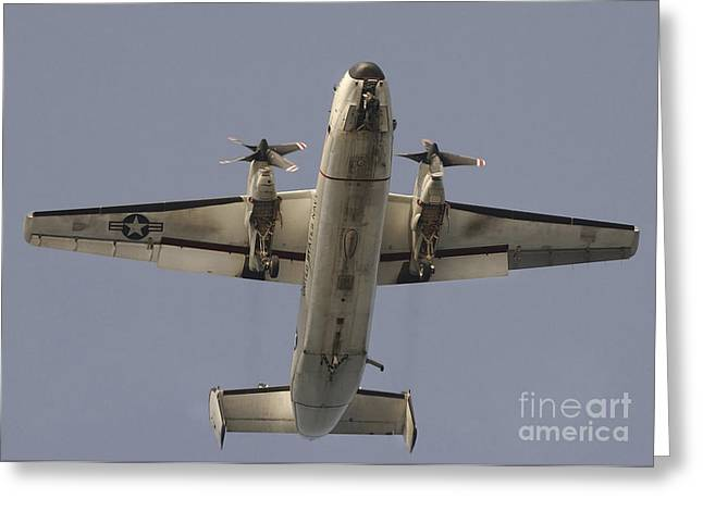 A C-2 Greyhound In Flight Greeting Card by Stocktrek Images