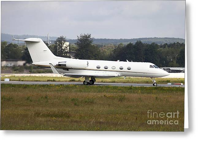 Private Jet Greeting Cards - A C-20 Gulfstream Of The U.s. Army Greeting Card by Timm Ziegenthaler