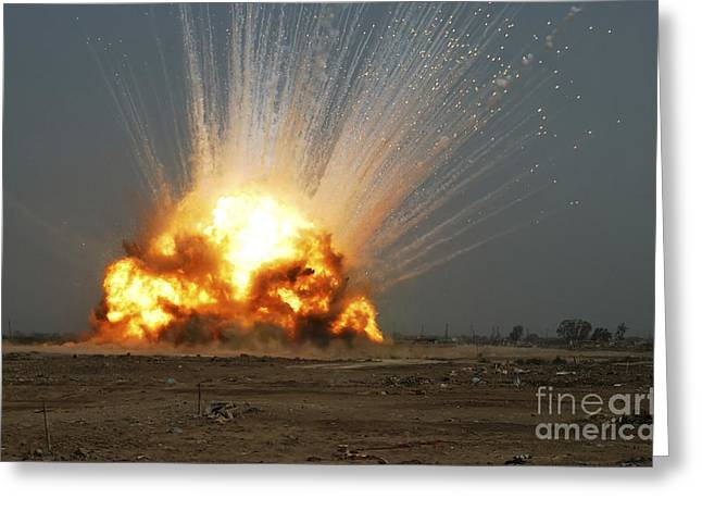 Detonating Greeting Cards - A Cache Of Unexploded Ordnance Greeting Card by Stocktrek Images