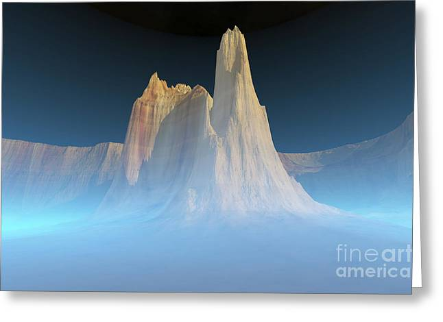 Creativity Desert Greeting Cards - A Canyon Mountain Is Surrounded Greeting Card by Corey Ford