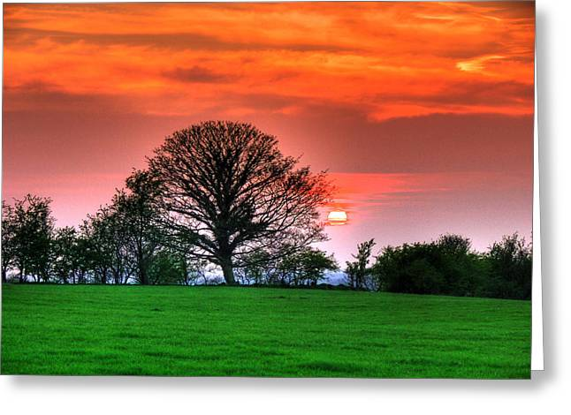 Kim Mixed Media Greeting Cards - A Celtic Sunset Greeting Card by Kim Shatwell-Irishphotographer