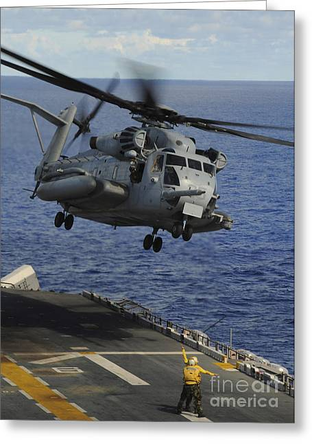 A Ch-53e Sea Stallion Helicopter Takes Greeting Card by Stocktrek Images