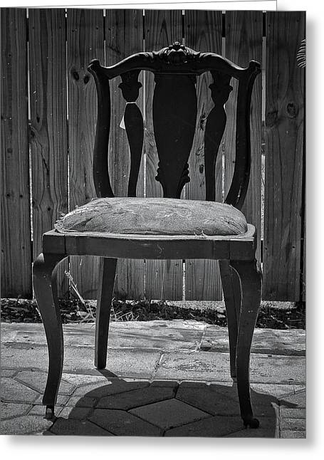Despair Greeting Cards - A Chair in Despair Greeting Card by DigiArt Diaries by Vicky B Fuller