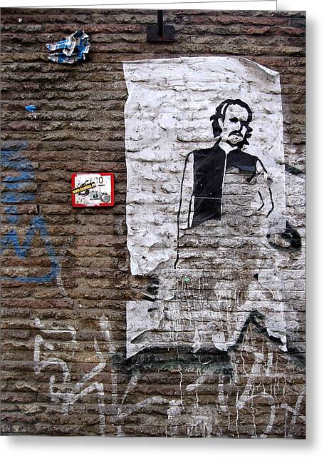 Berlin Germany Greeting Cards - A character on the wall Greeting Card by RicardMN Photography