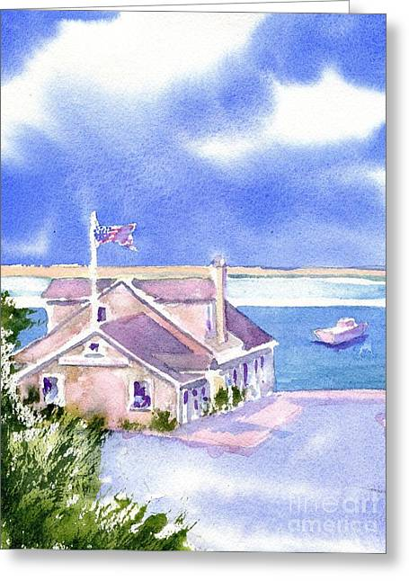Cape Greeting Cards - A Chatham Fish Market Greeting Card by Joseph Gallant