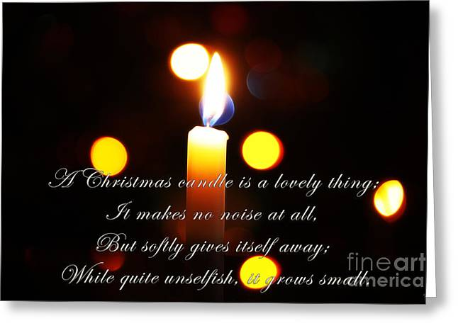A Christmas Candle Greeting Greeting Card by Nishanth Gopinathan