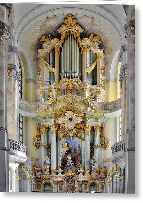 Dresden Greeting Cards - A church filled with music - Church of Our Lady Dresden Greeting Card by Christine Till