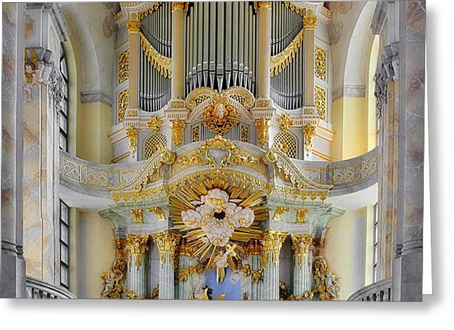 A church filled with music - Church of Our Lady Dresden Greeting Card by Christine Till