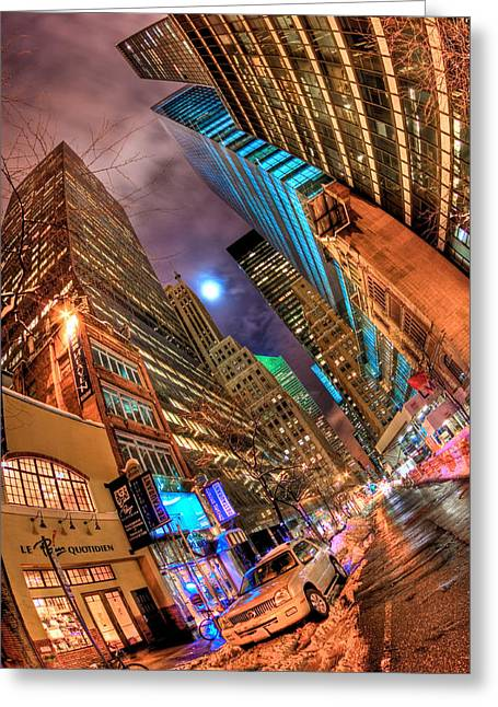 City Streets Photographs Greeting Cards - A Citys Patience Greeting Card by Joshua Ball