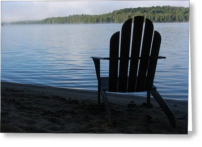 Light And Dark Greeting Cards - A Classic Adirondack Chair Greeting Card by Stacy Gold