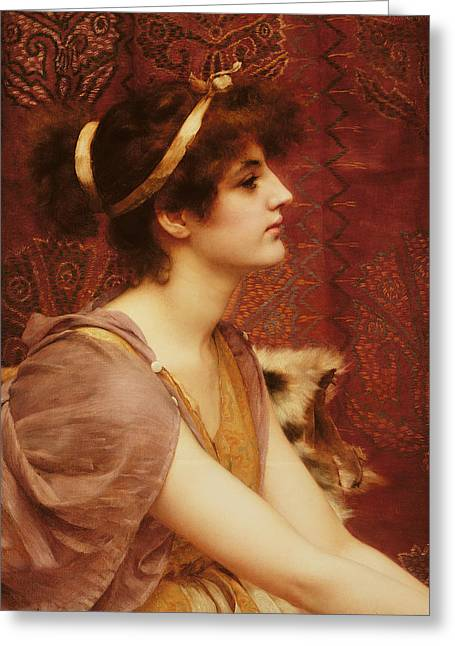 Neo Greeting Cards - A Classical Beauty Greeting Card by John William Godward