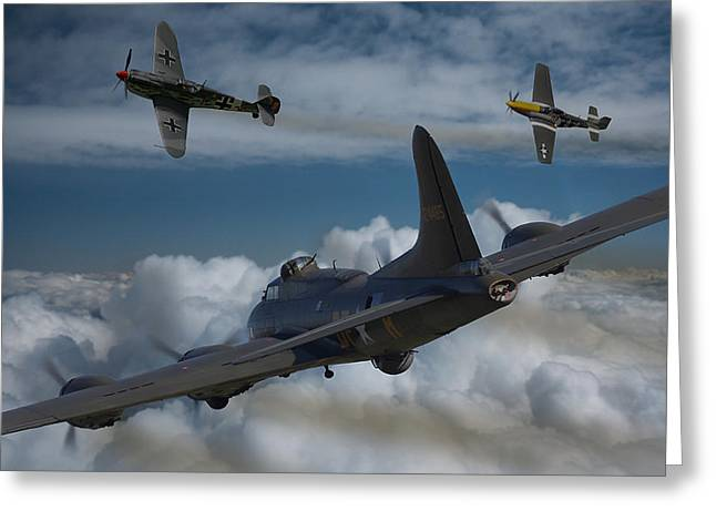 P-51 Mustang Photographs Greeting Cards - A close encounter Greeting Card by Ken Brannen