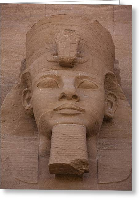 Statue Portrait Greeting Cards - A Close View Of The Face Of Ramses Iis Greeting Card by Taylor S. Kennedy