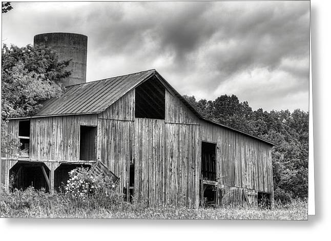 Fauquier County Greeting Cards - A Cloudy Day BW Greeting Card by JC Findley
