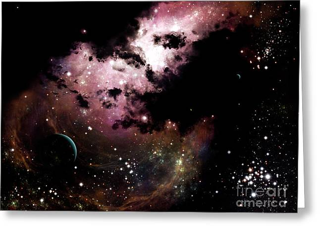 A Cluster Of Bright Young Stars Tear Greeting Card by Brian Christensen
