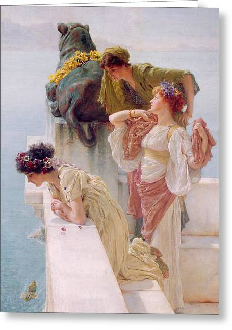 Sea Lions Greeting Cards - A Coign of Vantage Greeting Card by Sir Lawrence Alma-Tadema