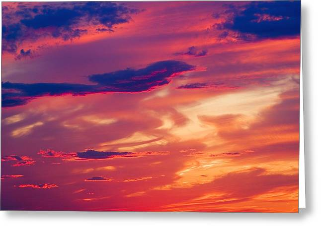 A Colorful Sky Greeting Card by Carson Ganci