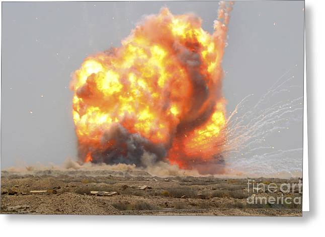 Detonation Greeting Cards - A Controlled Detonation Is Set Greeting Card by Stocktrek Images