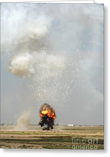 Detonation Greeting Cards - A Controlled Detonation Greeting Card by Stocktrek Images
