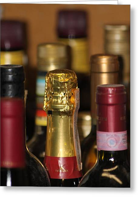 Bubbly Greeting Cards - A Cork Above Greeting Card by Lauri Novak