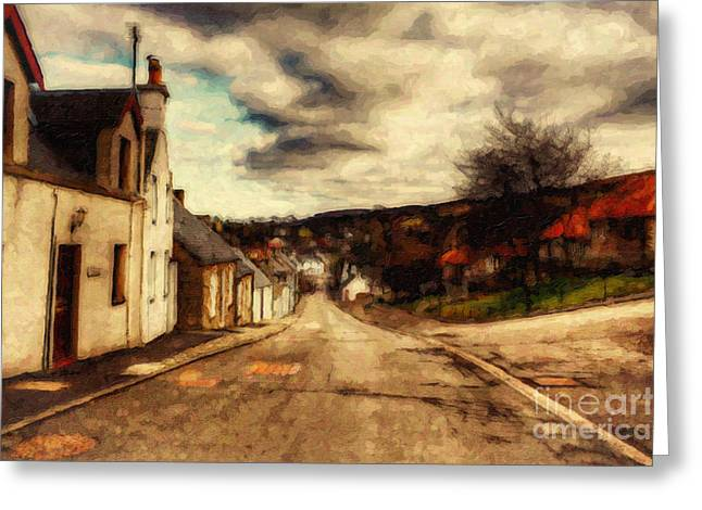 Seasonal Prints Rural Prints Greeting Cards - A Cotswold Village Greeting Card by Lianne Schneider