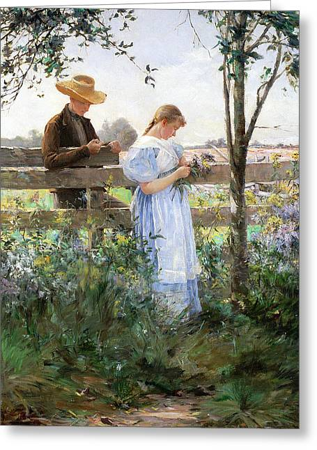 Dated Greeting Cards - A Country Romance Greeting Card by David B Walkley
