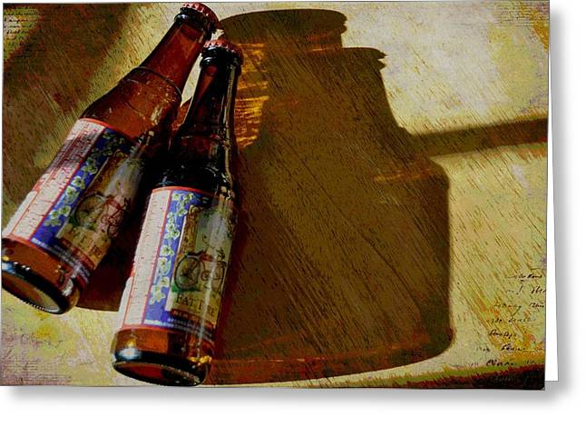 Amber Beer Greeting Cards - A Couple Of Fat Tires Greeting Card by Jan Amiss Photography