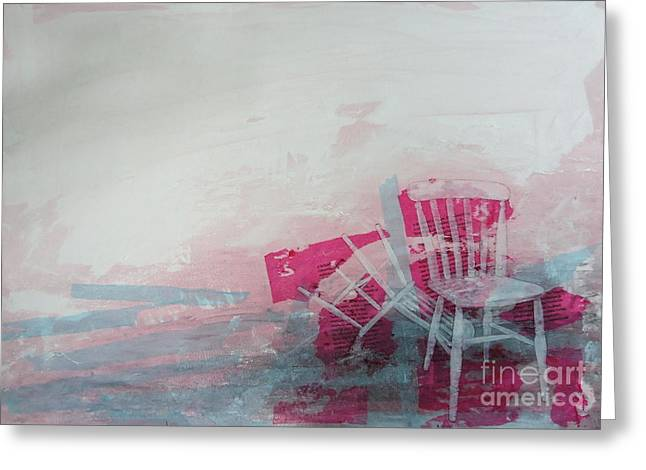 Chairs Mixed Media Greeting Cards - A crime of passion Greeting Card by Paul OBrien