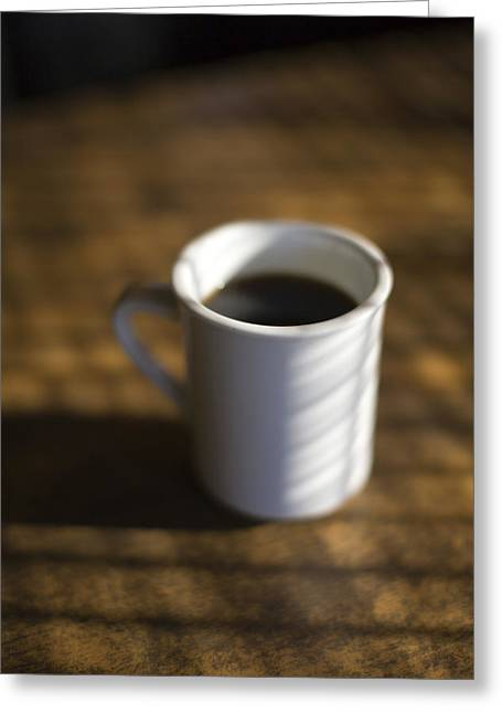 Coffee Drinking Greeting Cards - A Cup Of Coffee At A Diner Greeting Card by John Burcham