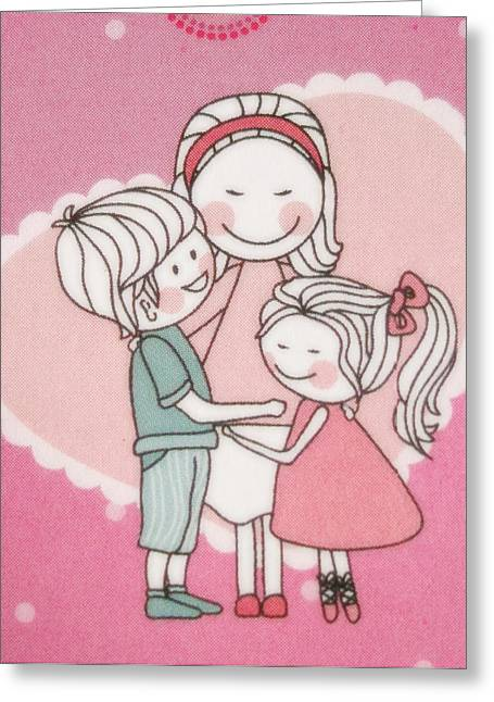 Philately Mixed Media Greeting Cards - A cute cartoon. Greeting Card by Panyanon Hankhampa