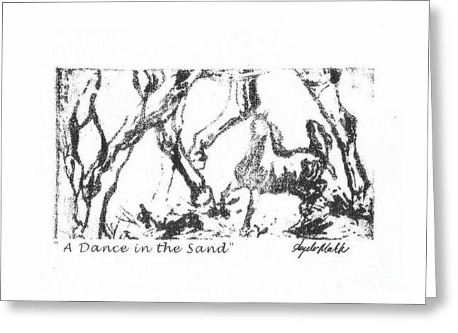 Equine Greeting Cards - A Dance in the Sand Greeting Card by Angela Marks