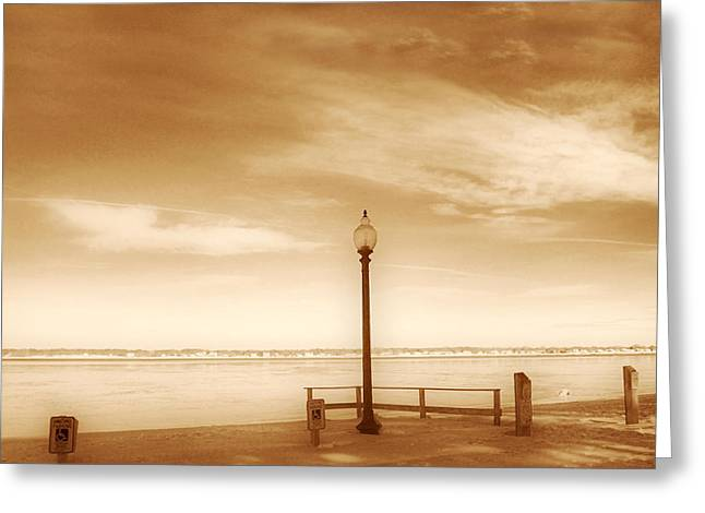 New England Ocean Greeting Cards - A day at Goddard Greeting Card by Lourry Legarde