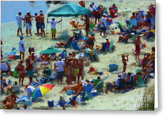Talking Digital Art Greeting Cards - A Day At The Beach Greeting Card by Jeff Breiman
