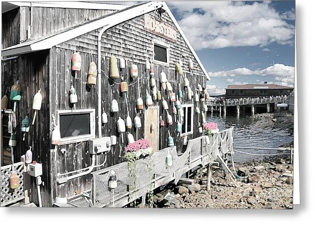 A Day In Bar Harbor Greeting Card by Betty LaRue
