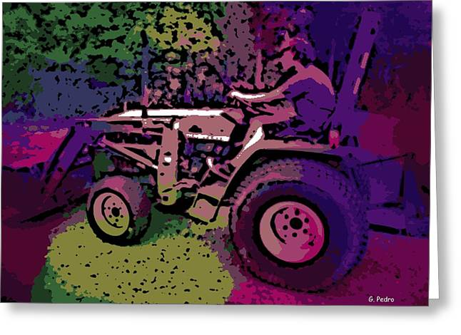 Front End Loader Greeting Cards - a Day on the Farm Greeting Card by George Pedro