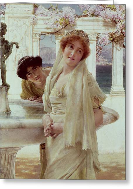 Greek Sculpture Greeting Cards - A Difference of Opinion Greeting Card by Sir Lawrence Alma-Tadema