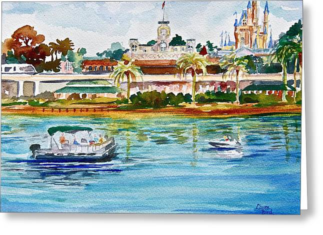 Artwork Greeting Cards - A Disney Sort of Day Greeting Card by Laura Bird Miller