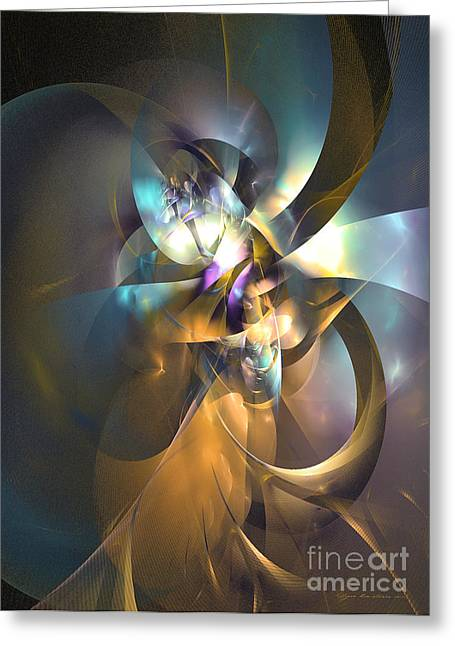 Algorithmic Abstract Greeting Cards - A distant melody Greeting Card by Sipo Liimatainen