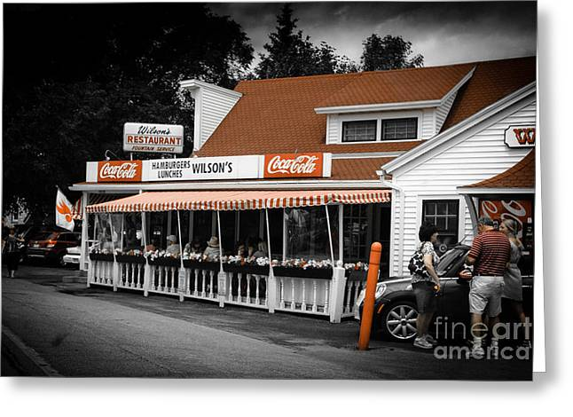 Hamburger Greeting Cards - A Door County Institution Since 1906 Greeting Card by Shutter Happens Photography