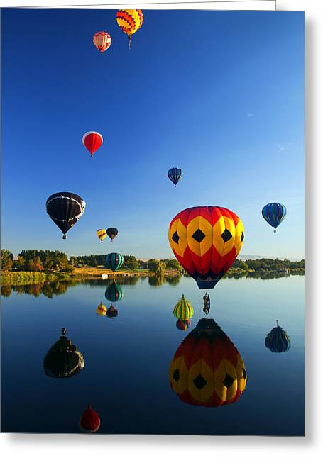 Yakima River Greeting Cards - A Dozen  Reflected Greeting Card by Mike  Dawson