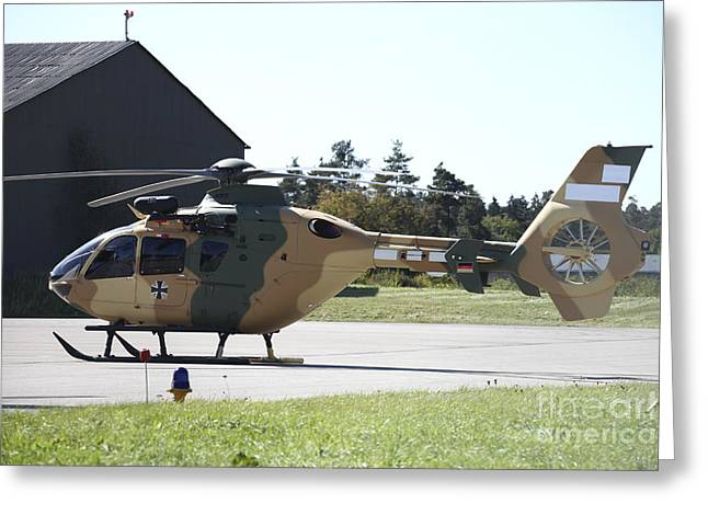 Utility Aircraft Greeting Cards - A Eurocopter Ec-635 Helicopter Greeting Card by Timm Ziegenthaler