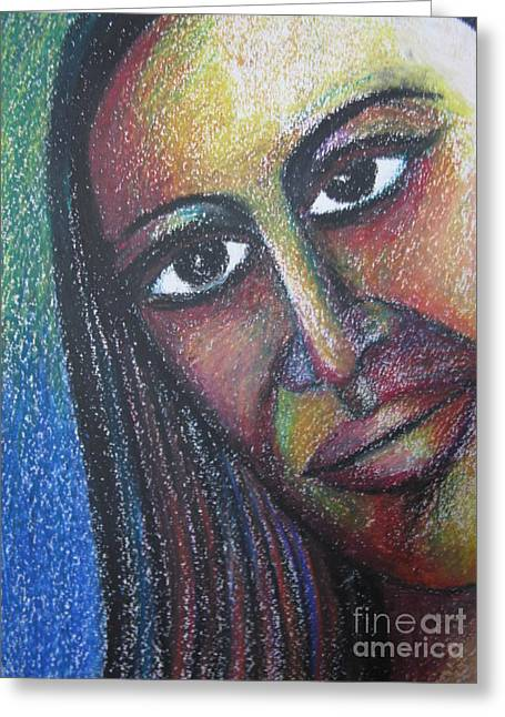 Sell Art Online Greeting Cards - A face Greeting Card by Nedunseralathan R