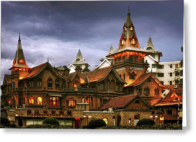 Dreaming Greeting Cards - A Fairytale - Eric Moller Villa Shanghai Greeting Card by Christine Till