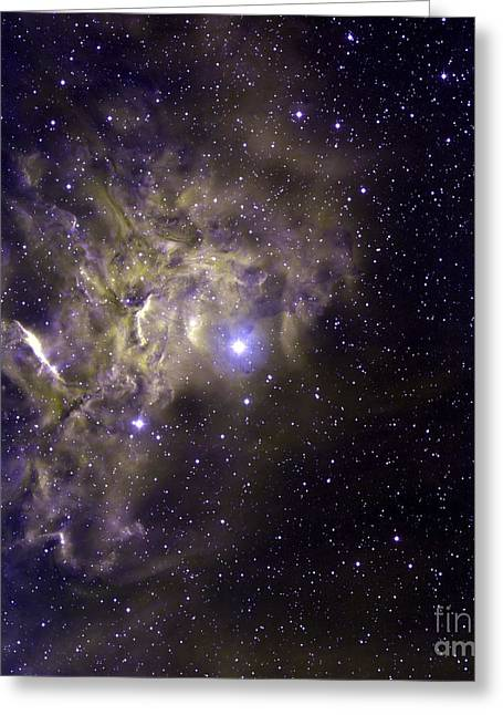 Aurigae Greeting Cards - A False-color Image Of The Star Ae Greeting Card by Stocktrek Images