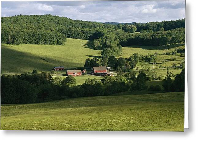 Cooperstown Greeting Cards - A Farm Near The Headwaters Greeting Card by Raymond Gehman